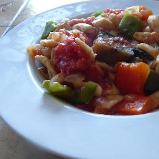Spaetzle with Vegetables.