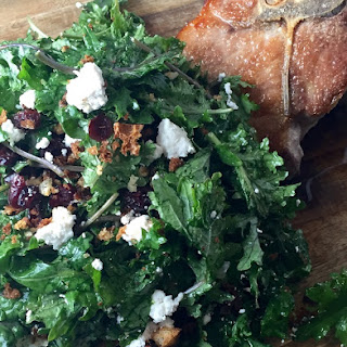 Kale Salad with Cranberries, Goat Cheese and Buttered Breadcrumbs Recipe
