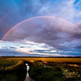 Delta rainbow  by Richard Wright - Landscapes Weather ( rain delta farm )