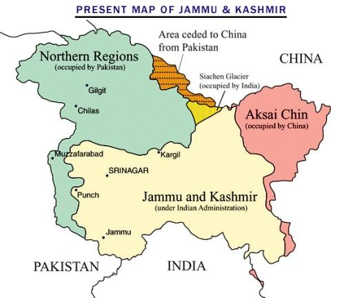 Image result for PoK, Jammu and Kashmir and LoC upsc