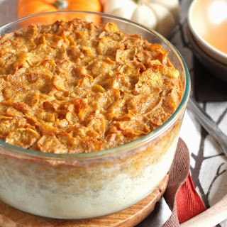 Pumpkin Cornflake Breakfast Pudding.