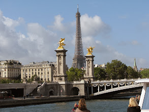 Photo: Right, my favorite, the Alexandre III bridge in ever better light as we are headed back.