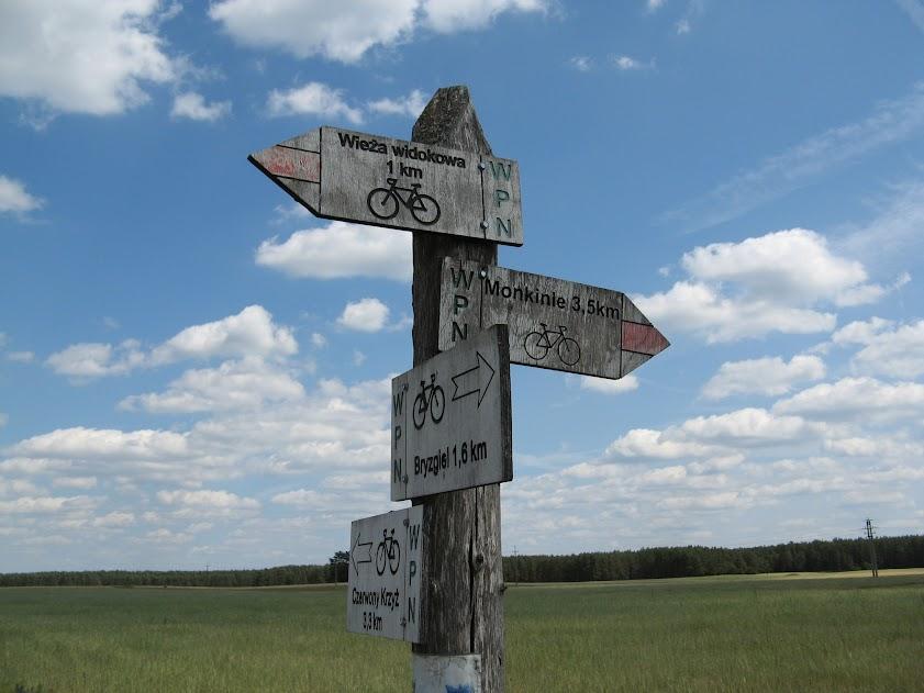 Oznaczenia szlaków rowerowych