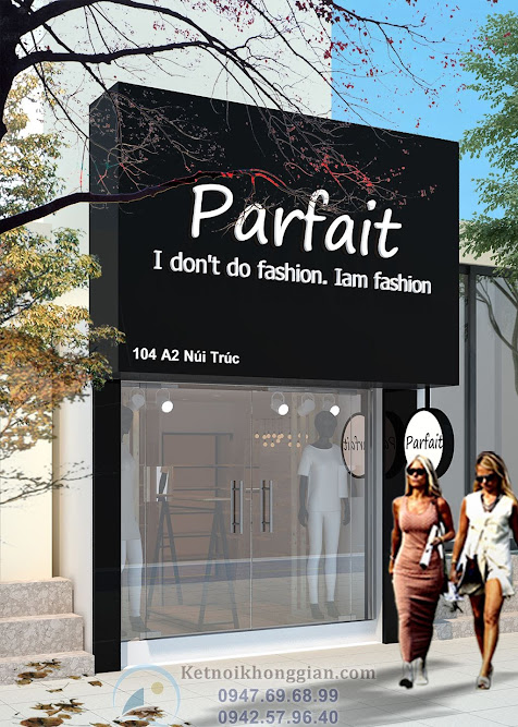 Thiết kế shop thời trang parfait