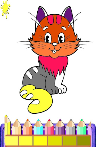 cat color pages printable | ... objects. Early learners have fun ... | 512x334