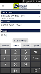 NWCCU Mobile Banking- screenshot thumbnail