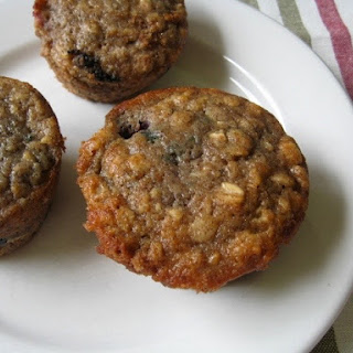 Spiced Blueberry Oat Muffins