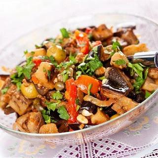 Warm Shiitake Mushroom and Eggplant Salad Recipe