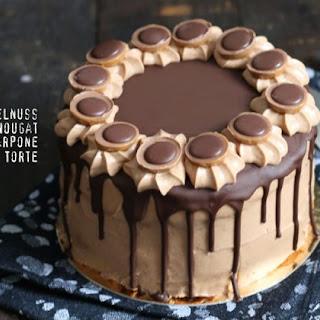 Hazelnut Nougat Mascarpone Cake.
