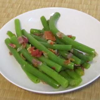Bacon (or alternative veggie) dressing for green beans (for 4 servings of beans)Total cost with beans – $2.30