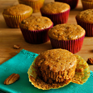 Candied Pecan Pumpkin Muffins