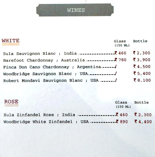 Delhi Club House menu 2