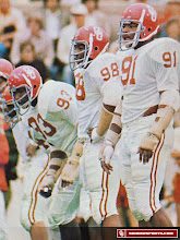 Photo: All three Selmon brothers on the field at the same time.