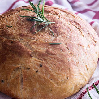 Olive Oil and Rosemary No Knead Bread.