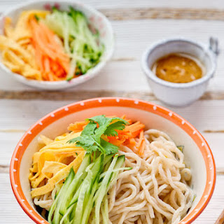 Taiwanese Home Made Noodle Salad.