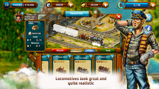 Transport Empire: Steam Tycoon MOD (Unlimited Gold/Money) 3