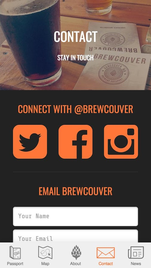 Brewcouver- screenshot