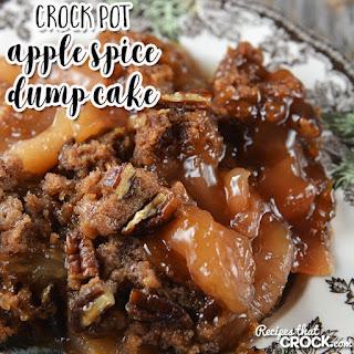 Crock Pot Apple Spice Dump Cake.