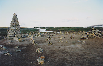 Photo: Cairns along the Arctic Circle in Norway
