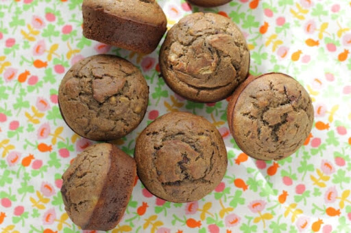 Whole Grain Chocolate Chip Banana Muffins