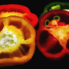 Boundless slices of color by Dave Walters - Food & Drink Fruits & Vegetables ( peppers, nature, colors, nature up close, lumix fz2500,  )