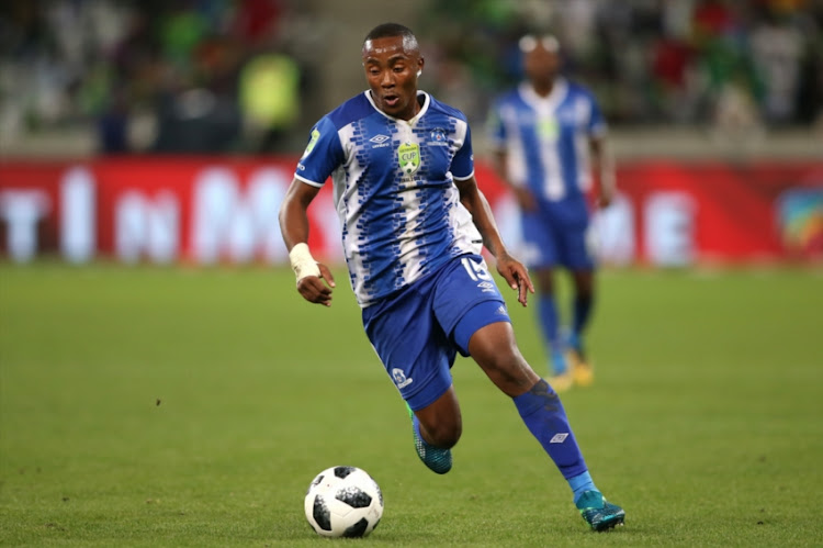 Lebohang Maboe of Maritzburg United during the Nedbank Cup, Final match between Maritzburg United and Free State Stars at Cape Town Stadium on May 19, 2018 in Cape Town, South Africa.