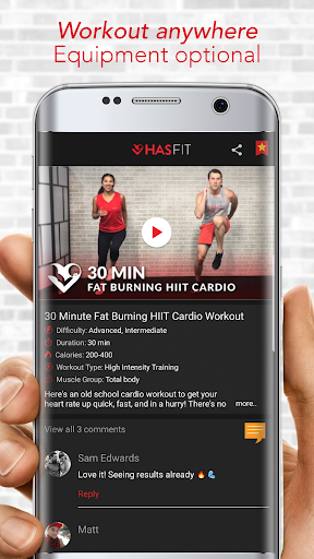 HASfit Home Workout Routines & Fitness Plans screenshot 4