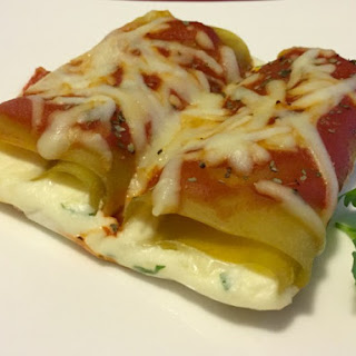 Green Lentil Cheese Lasagne Roll-ups