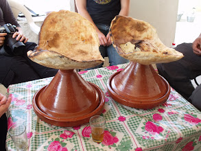 Photo: Two tagines this time, and only a little smaller.