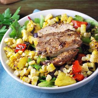 Caribbean Grilled Jerk Chicken Bowls.