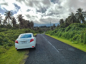 Photo: A drive around the lush Savaii.  This is the wide part of the road, before it narrows into a bicycle lane.