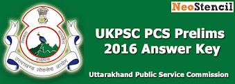 UKPSC PCS Prelims Answer Key 2016 & Cut Off