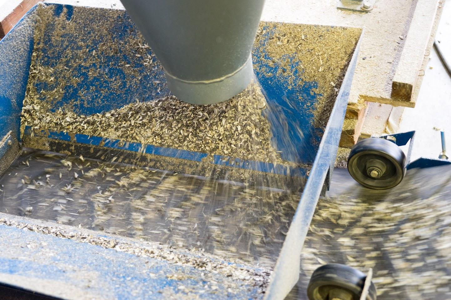 ナッツ用ひまわりの種の殻剥き作業