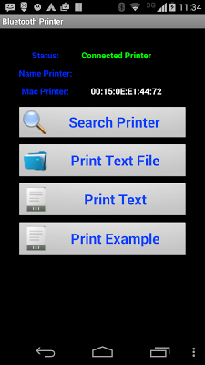 Bluetooth Printer - screenshot