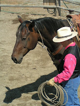 Photo: I will want the coils ahead of me, and between my body and the horse. I will always have an exit strategy! Here, it is out to my right.