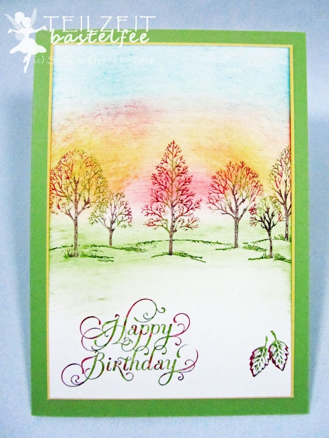 Stampin' Up! - Inkspire_me #403, Herbst, fall, autumn, Lovely as a Tree, Beautiful Birthday, Sponge technique, Birthday, Geburtstag
