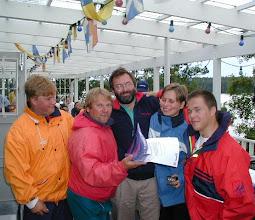 Photo: LYS2 luokkavoitto PP 2000, Blueship-miehistö.