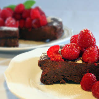 Flourless Chocolate Raspberry Cake.