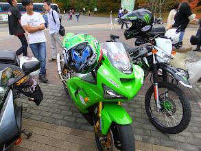 Photo: この会場では少数派wのビッグバイク。ZX-6R。