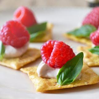 Raspberry Basil Canapés.