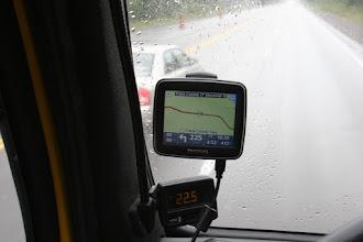 Photo: Auf dem Transcanada Higway, 225 Kilometer geradeaus, dann links abbiegen.