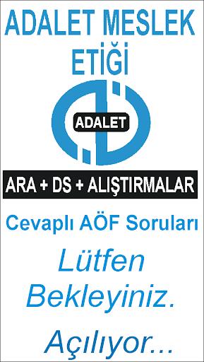 AÖF ADALET MESLEK ETİĞİ