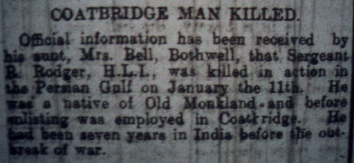 Robert Rodger newspaper clipping