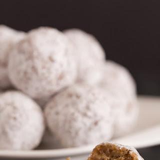 No-Bake Date & Pecan Snowball Cookies