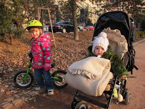 Photo: Girls in the Luzanky park.