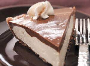 Chocolatey Eggnog Pie
