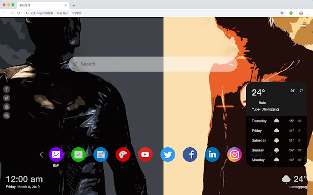 The Flash New Tab & Wallpapers Collection