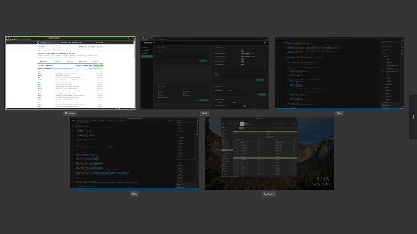 Linux Mint Workspaces