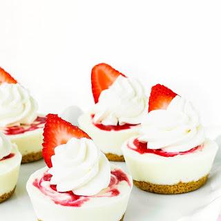 Mini Greek Yogurt Strawberry Cheesecake.