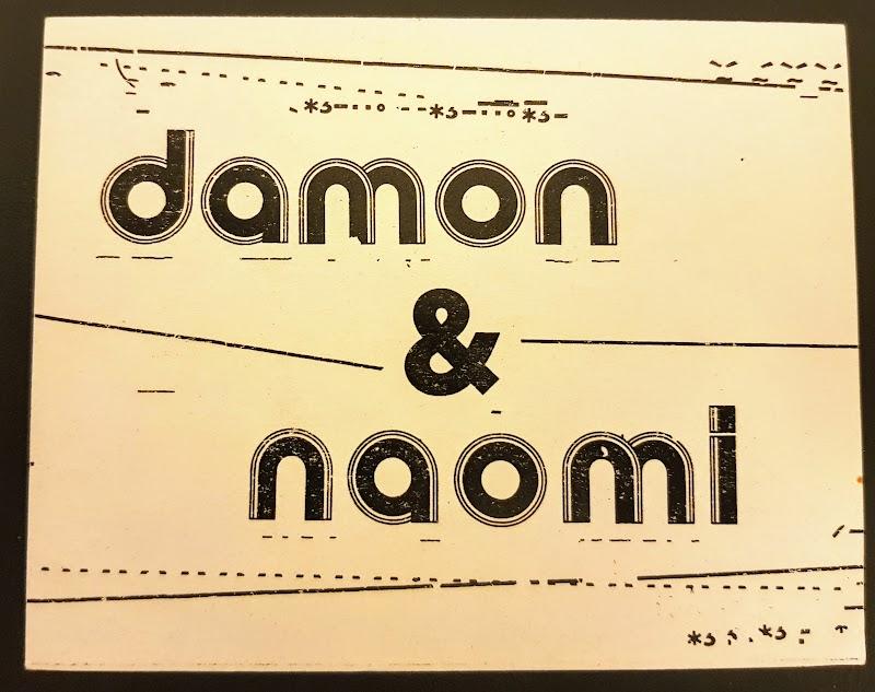 Damon & Naomi promo postcard, front - 1999